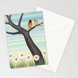 Orioles and daffodils Stationery Cards