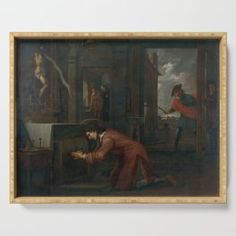 Antoni Viladomat - Saint Francis Receives a Message from the Crucifix at Saint Damian (1720s) Serving Tray