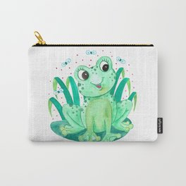 Frog Nursery Illustration Carry-All Pouch