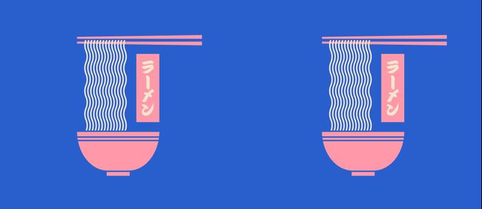Ramen Japanese Food Noodle Bowl Chopsticks - Blue Coffee Mug
