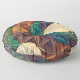 Tetrahedral Nodes HDR Floor Pillow