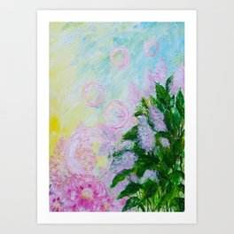 Summer Bubbles Art Print