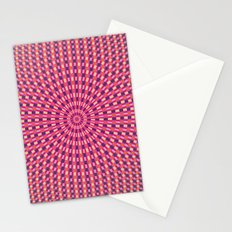 Pink Blue Orange and Yellow Rings Stationery Cards