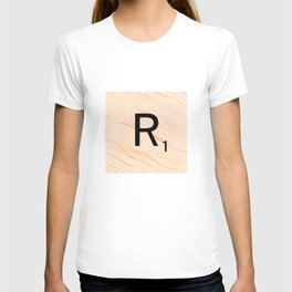 Scrabble Letter R - Large Scrabble Tiles T-shirt