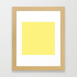 Solid Pale Corn Yellow Color Framed Art Print