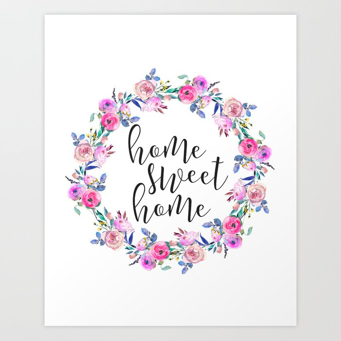 graphic relating to Home Sweet Home Printable called House Cute House, Condo Decor, Printable Wall Artwork, Typography Estimate Artwork Print by means of printableartsy