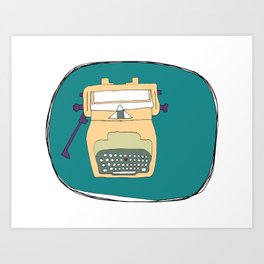 I heart my typewriter Art Print