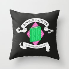 House of Book Readers Throw Pillow