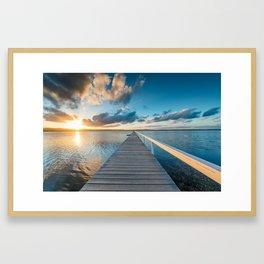 Long Jetty Framed Art Print