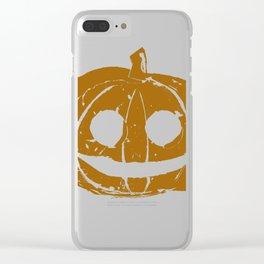Pumpkin Hand Print Clear iPhone Case