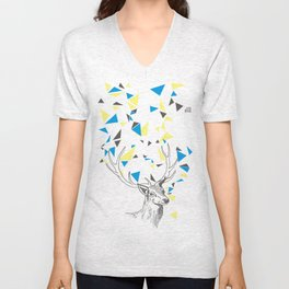Rainbow Collection / deer Unisex V-Neck