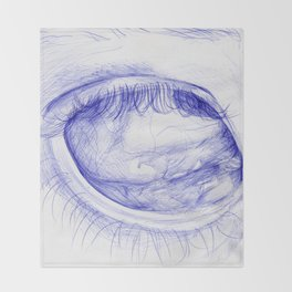 spooky eye Throw Blanket
