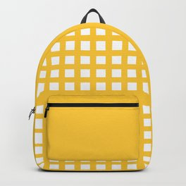 Thick Aspen gold yellow grid pattern Backpack