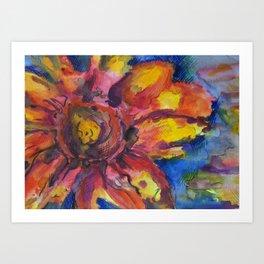 Watercolor Sunflower Art Print