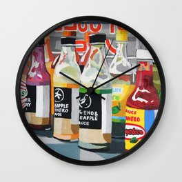 Food Truck Peppers Wall Clock