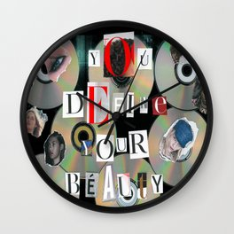 You Define Your Beauty Wall Clock