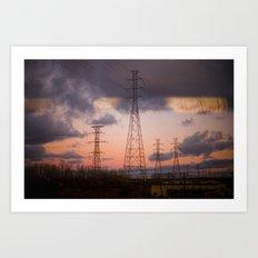 Powerlines Art Print