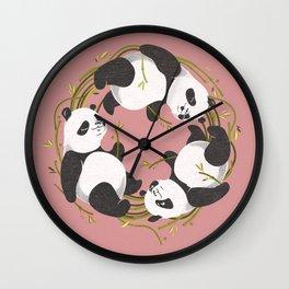 Panda dreams Wall Clock