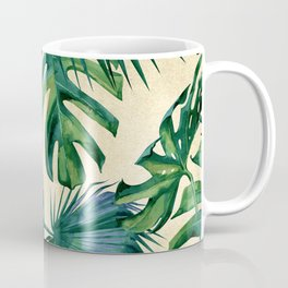Tropical Island Republic Green on Linen Coffee Mug