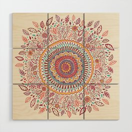Sunflower Mandala Wood Wall Art