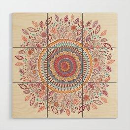 Sunflower Mandala Wood Wall Art