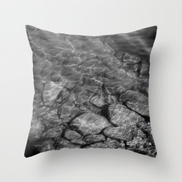Under Water (Black and White) Throw Pillow
