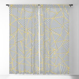 Ab Outline Gold and Grey Blackout Curtain