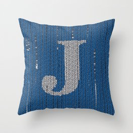 Winter clothes. Letter J II. Throw Pillow