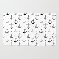 anchor Area & Throw Rugs featuring Anchor by Miriam Sironi