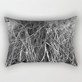 pampas grass leaves, black and white Rectangular Pillow
