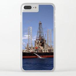 Hughes Glomar Explorer Clear iPhone Case