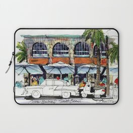 South Beach Sidewalks Laptop Sleeve