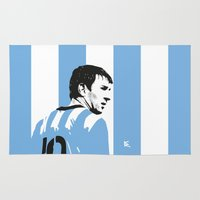 argentina Area & Throw Rugs featuring Messi Argentina by lockerroom51