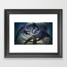 Black Dragon v2 Framed Art Print