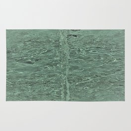 Aqua Water Fountain Rug