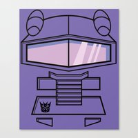 transformers Canvas Prints featuring Transformers - Shockwave by CaptainLaserBeam
