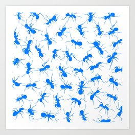 Blue Ants Art Print