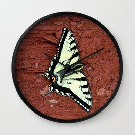 Tiger Swallowtail Butterfly Wall Clock