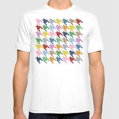 Dog T White Mens Fitted Tee MEDIUM
