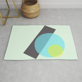yellow n blue circles 002 Rug