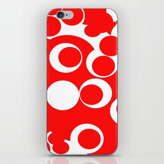 red circles iPhone & iPod Skin