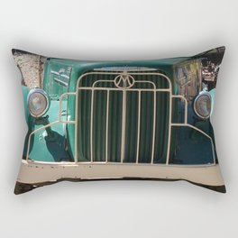 Mack Truck Grill, Mack Truck, Old Truck, Green Rectangular Pillow