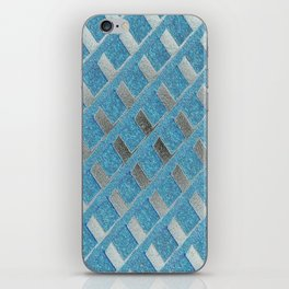 Blue Grill Abstract iPhone Skin