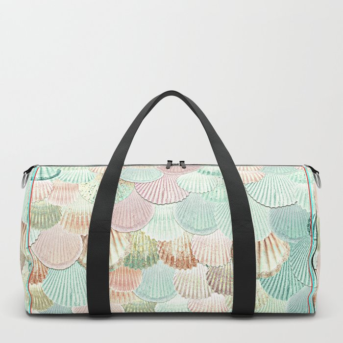 MERMAID SHELLS - MINT & ROSEGOLD Duffle Bag