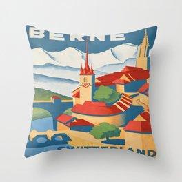Vintage poster - Berne Throw Pillow