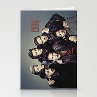 snl Stationery Cards featuring One Direction - SNL w/ Paul Rudd by Amara V