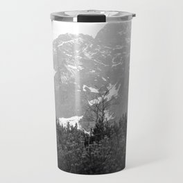 Tatry in Black and White Travel Mug