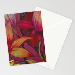 """Retro Giant Floral Pattern"" Stationery Cards"