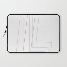 Intertwined Strength and Elegance of the Letter L Laptop Sleeve
