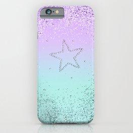MERMAID Glitter Star #1 #decor #art #society6 iPhone Case